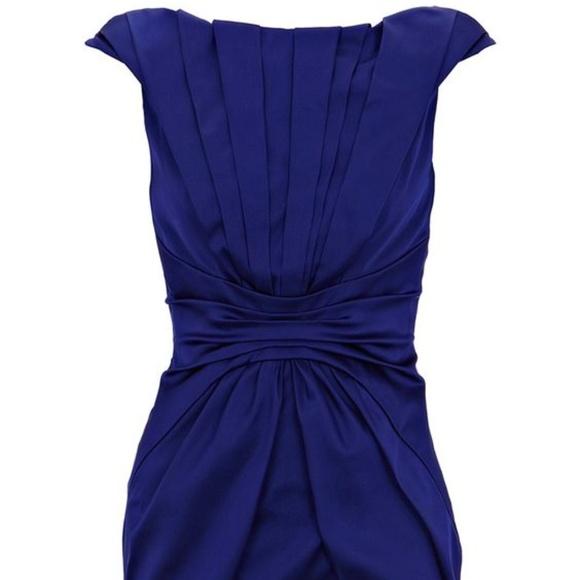 Karen Millen Dresses Satin Blue Formal Dress Poshmark
